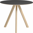 Hay CPH20 round table 90 cm, matt lacquered oak - black lino