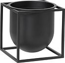 By Lassen Kubus flowerpot 14, black