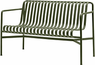 Hay Palissade dining bench, olive
