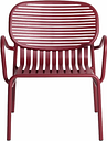 Petite Friture Week-end lounge chair, burgundy