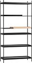 Woud Tray shelf, high, 1 oak - 1+4 black
