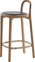 Woodnotes Siro+ bar stool 65 cm, oak - black leather