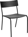 Serax August chair, wide, black