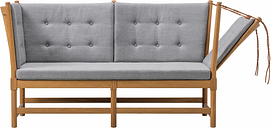 Fredericia Spoke-Back sofa, oak - Fiord 391