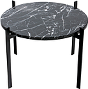 OX Denmarq Single Deck table, black - black marble