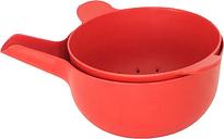 Ekobo Pronto bowl & colander set, S, tomato