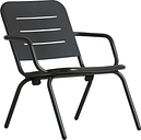 Woud Ray lounge chair, charcoal black