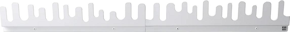Design House Stockholm Wave hanger, 2-pack, white