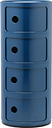 Kartell Componibili storage unit, 4 modules, blue