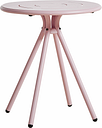 Woud Ray café table 65 cm, round, rose pink