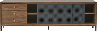 Harto Gabin sideboard with drawers 162 cm, walnut - slate grey