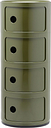 Kartell Componibili storage unit, 4 modules, green