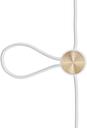 Le Klint Cord Adjuster, white - brass