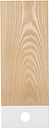 Muoto2 Pala cutting board, medium, white - ash