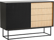 Woud Virka sideboard, high, black