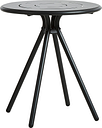 Woud Ray café table 65 cm, round, charcoal black