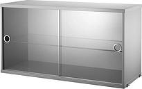 String Furniture String display cabinet, grey