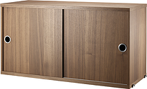 String Furniture String cabinet, 78 x 30 cm, walnut