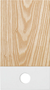 Muoto2 Pala cutting board, small, white - ash