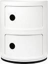 Kartell Componibili storage unit, 2 modules, white
