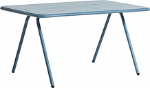 Woud Ray dining table 140 cm, blue