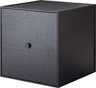 By Lassen Frame 35 box with door, black stained ash