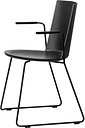 Fredericia Acme chair with armrests, sled base, black