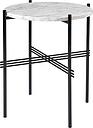 GUBI TS coffee table, 40 cm, black - white marble