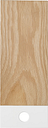 Muoto2 Pala cutting board, medium, white - oak