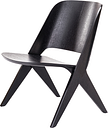 Poiat Lavitta lounge chair, black