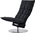 Woodnotes K chair, swivel base, narrow, black