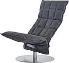 Woodnotes K chair, swivel base, narrow, graphite