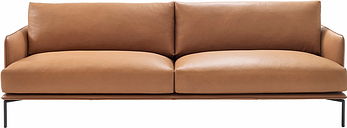 Adea Baron sofa, aniline leather