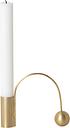 Ferm Living Balance candleholder, brass
