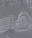 Pihlgren ja Ritola Helsinki wallpaper, blue - grey