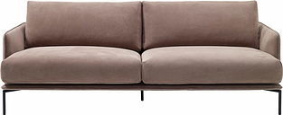 Adea Baron sofa, nubuck leather