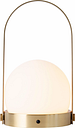Menu Carrie LED table lamp, brushed brass