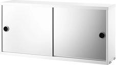 String Furniture String mirror cabinet, white