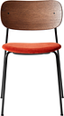 Menu Co Chair, stained oak - orange red velvet
