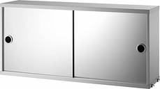 String Furniture String mirror cabinet, grey