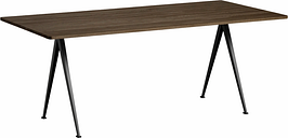 Hay Pyramid table 02, black - smoked oak