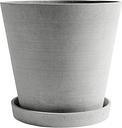 HAY Flowerpot and saucer, XXXL, grey