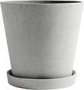 Hay Flowerpot and saucer, XXL, grey