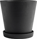 Hay Flowerpot and saucer, XXL, black