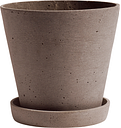 Hay Flowerpot and saucer, L, terracotta