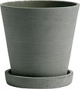 Hay Flowerpot and saucer, M, green