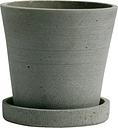 Hay Flowerpot and saucer, S, green