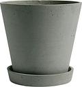 Hay Flowerpot and saucer, XL, green