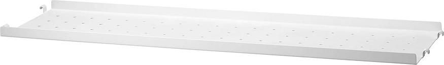 String Furniture String metal shelf 20 cm, low, white