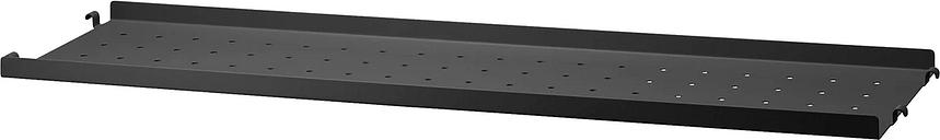 String Furniture String metal shelf 20 cm, low, black